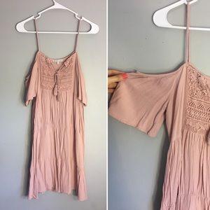 Charlotte Russe Small Boho Pink Ruffle Dress